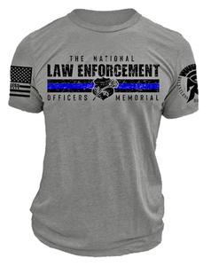 Gray ReLEntless Defender Memorial Plus Sized T-shirt